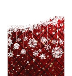 Red christmas background EPS 8 vector image vector image