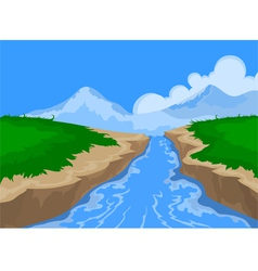 River and beautiful nature vector image
