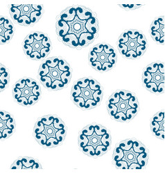 Seamless patterns on white background made of vector