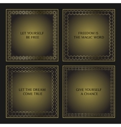 Set of four decorative calligraphic frames vector image