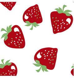 Simple strawberries seamless pattern vector