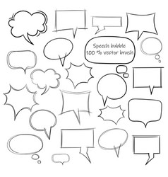 sketch style speech bubbles vector image