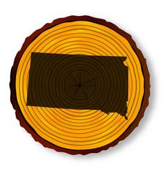 South dakota map on timber vector