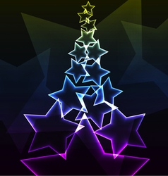 Star abstract background vector