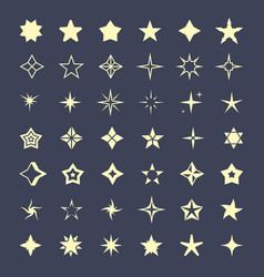 stars various shapes set abstract graphic vector image