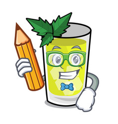 Student mint julep character cartoon vector