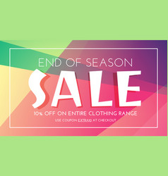 Stylish sale banner with colorful background vector