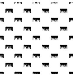 synthesizer piano pattern seamless vector image
