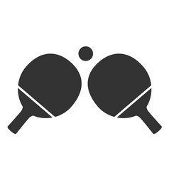 Table tennis icon on white background ping-pong vector