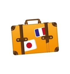 travel suitcase icon image vector image