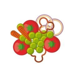 vegetables salad icon vector image