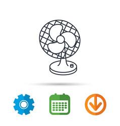 Ventilator icon fan or propeller sign vector