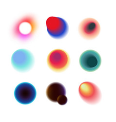 vibrant colorful circles with blurred radiant vector image