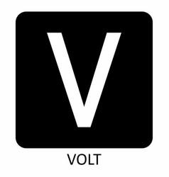 Volt v symbol vector