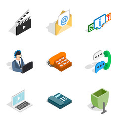 Web project icons set isometric style vector