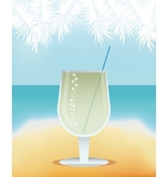 cocktail martini yellow background vector image