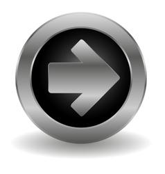 Metallic arrow button vector image