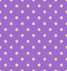 Seamless polka dot violet pattern with circles vector image