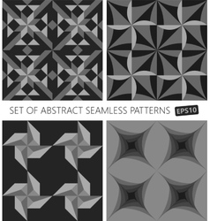 Set of abstract seamless pattern EPS10 vector image