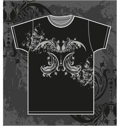 t-shirt design with vintage floral element vector image vector image