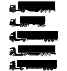 trucks silhouettes vector image