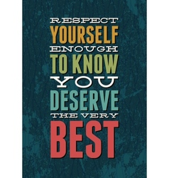 Typography motivational vector image vector image