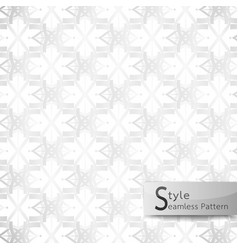 abstract seamless pattern flower cross white vector image vector image
