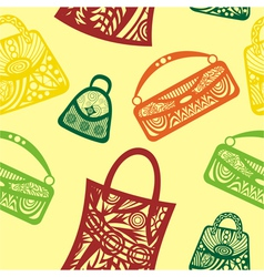 Bags seamless pattern background vector image vector image