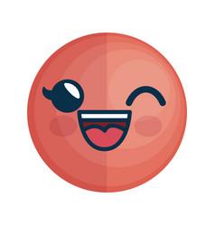 cartoon face icon vector image vector image