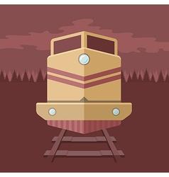 Flat train vector image