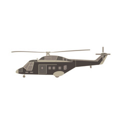 helicopter flat icon isolated transport design vector image vector image