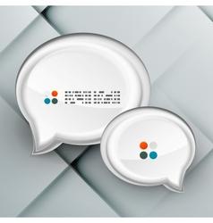 3d paper speech bubbles vector image