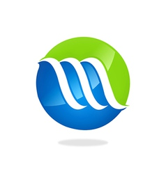 abstract finance business swirl logo vector image