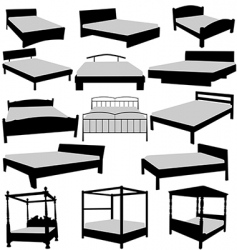 beds collecttion vector image
