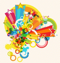festival decoration background vector image vector image