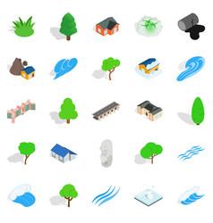 urban landscape icons set isometric style vector image vector image