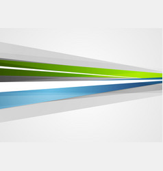 abstract blue and green corporate stripes vector image vector image