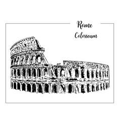 coliseum rome architectural symbol beautiful vector image vector image