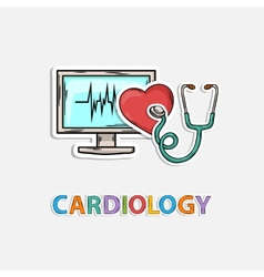 Concept Icon for cardiology vector image vector image