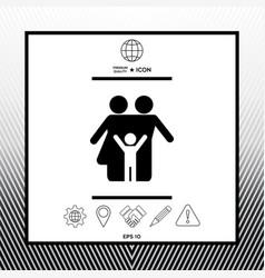 Family symbol icon vector