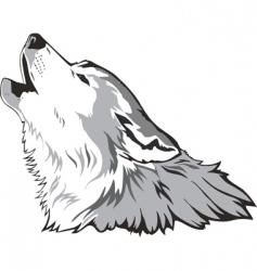 wolf head vector vector image vector image