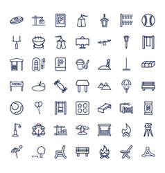 49 outdoor icons vector