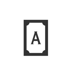 ace card line icon simple modern flat for mobile vector image