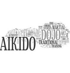 aikido dojo text word cloud concept vector image