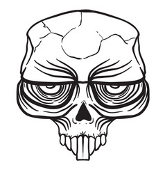 alien skull black vector image