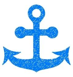 Anchor Grainy Texture Icon vector