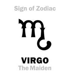 Astrology sign zodiac virgo the maiden vector