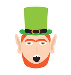 Avatar of amazed irish elf vector
