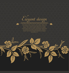 baroque ornate background vector image