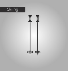 Black and white style icon ski poles vector